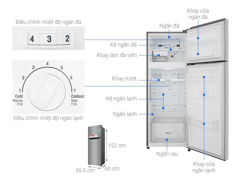 Tủ lạnh 209l lit GN-M208PS